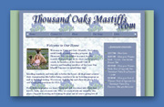 Thousand Oaks Mastiffs Web Site Design - San Marcos, Texas