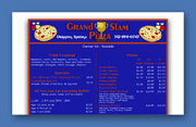 Grand Slam Pizza Web Site Design - Dripping Springs, Texas